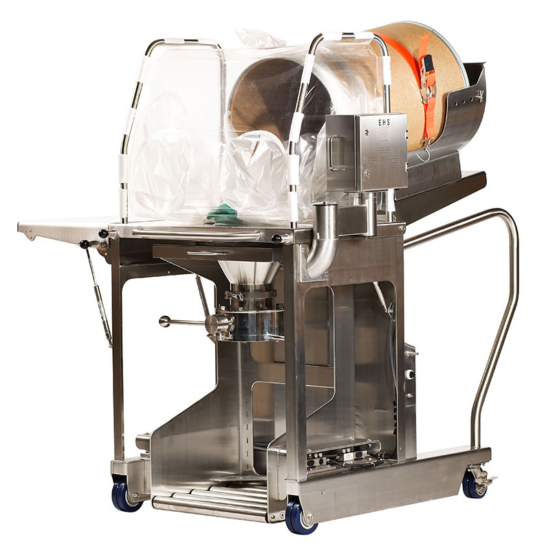 Single use containment material handling station